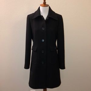 Vintage J Crew Long Wool Dress Coat